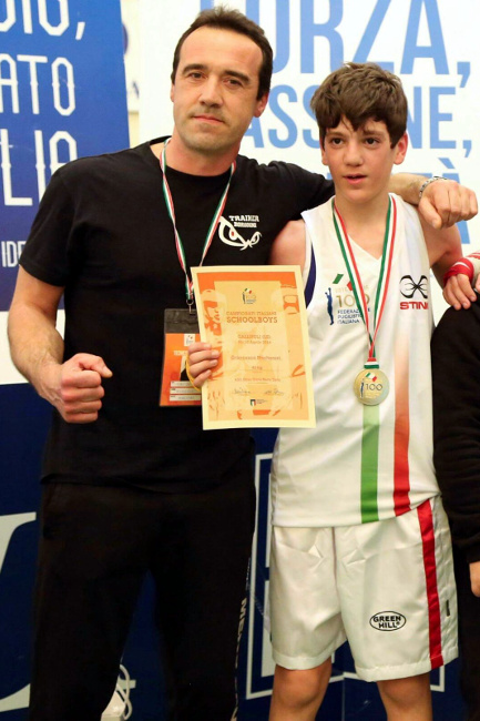 Francesco Mecheroni con il maestro David Borgogni