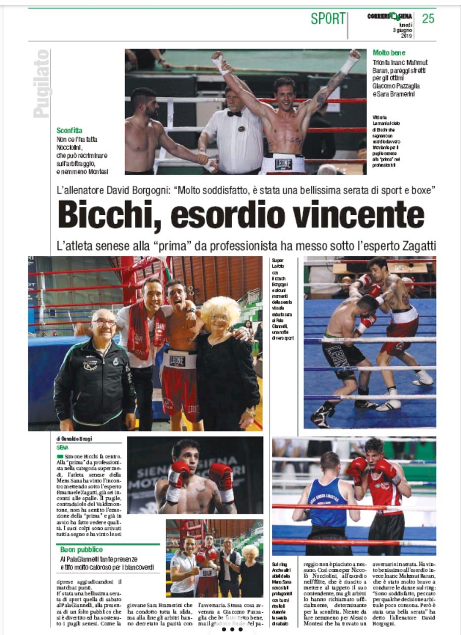 Corriere di Siena 03/06/2019