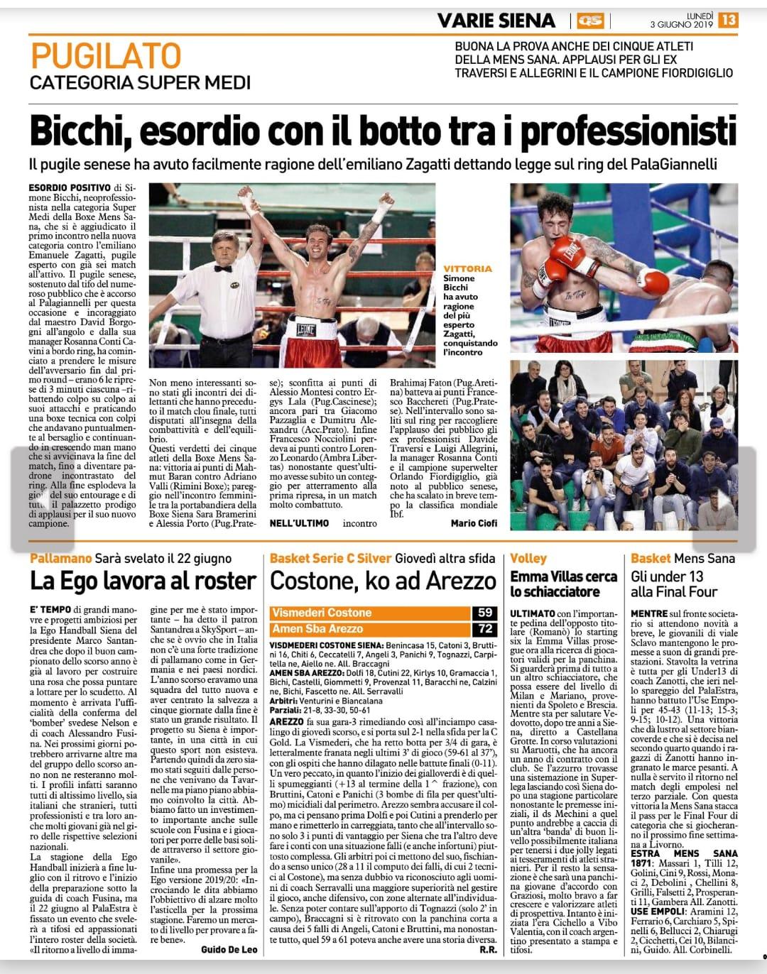 La Nazione SIENA 03/03/2019