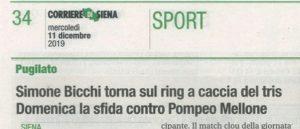 Corriere di Siena 2019-12-11