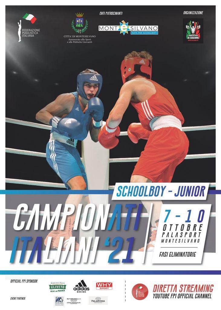 Campionati Italiani Schoolboy e Junior 2021